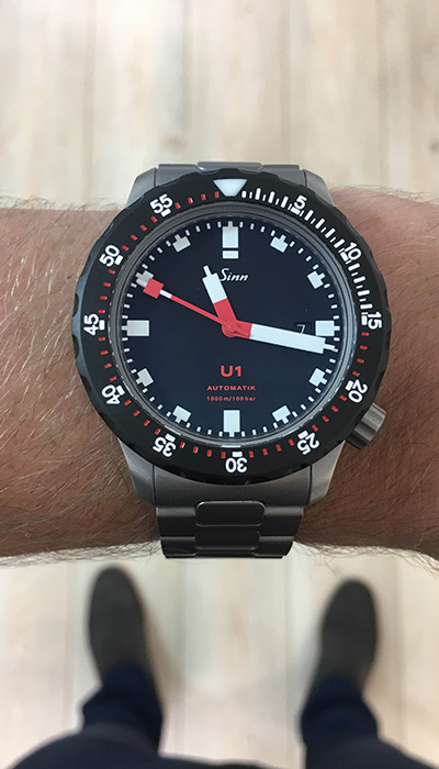 sinn u1 sdr luxury men 39 s german watch define watches. Black Bedroom Furniture Sets. Home Design Ideas