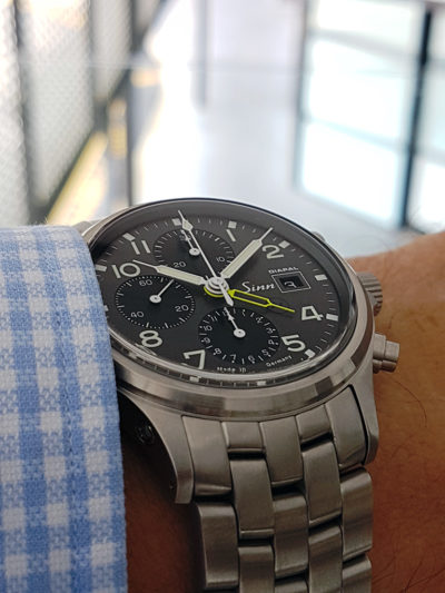 Sinn_358_UTC_Diapal_yellow_wrist2