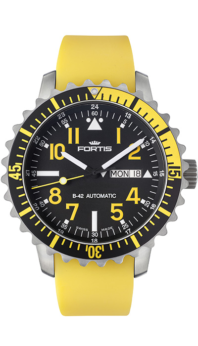 Fortis_Marinemaster_DayDate_Yellow
