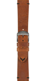 Sinn cow hide strap, vintage look, brown, 20mm