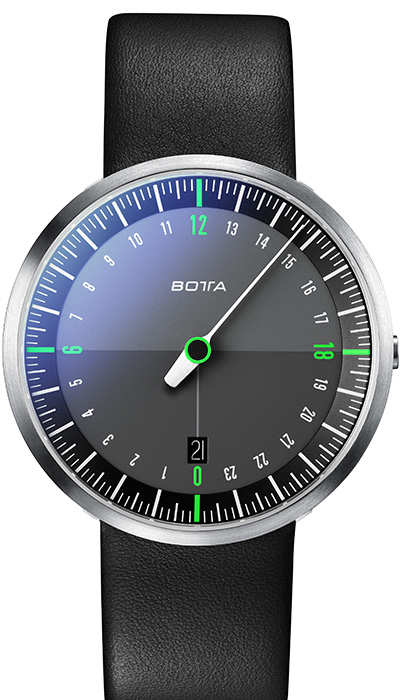Botta_UNO_24_NEO_Black_Green_Leather