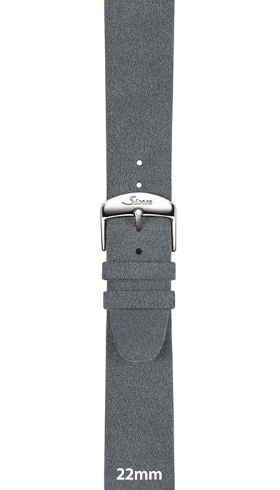 Sinn Alcantara® strap, light grey, 20mm