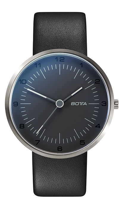 Botta_TRES_Titanium_pearl_black_Leather_soldier