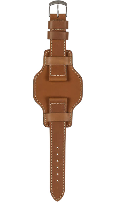 Sinn calf leather strap with underlay, brown, 20mm