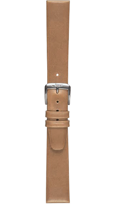 Sinn calf leather strap, gold-brown, 18mm