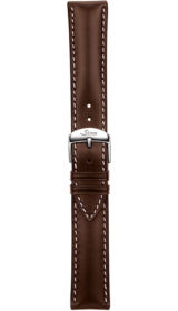 Sinn cow hide strap, mocha, softened, white stitching, 20mm