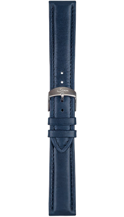 Sinn calf leather strap, blue, 18mm