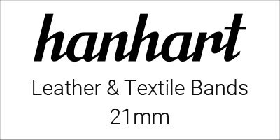 Hanhart Leather & Textile Bands 21mm
