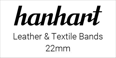 Hanhart Leather & Textile Bands 22mm