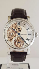 3/4 Guilloche Skeleton Floral