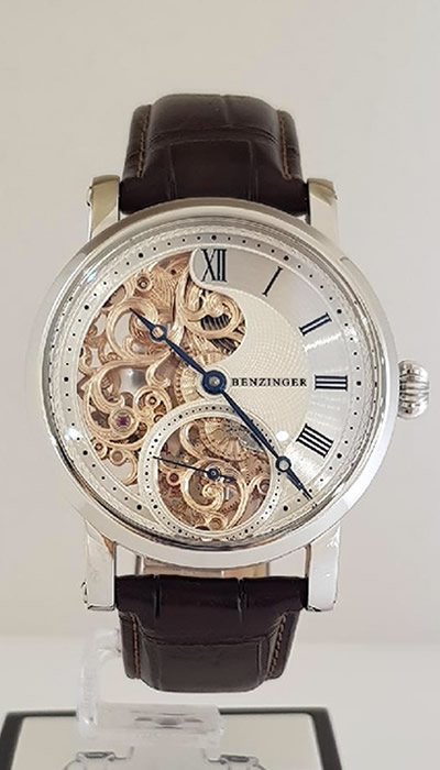 Guilloche Skeleton Floral
