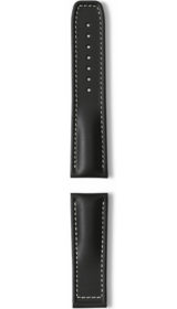Hanhart calfskin leather band, black, 24mm