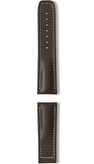 Hanhart calfskin leather band, brown, 24mm
