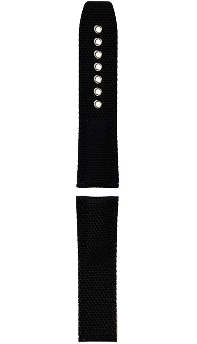 Hanhart textile band, black, 24mm