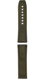 Hanhart textile band, olive, 24mm