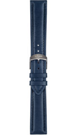 Sinn cow hide strap, blue, softened, 20mm