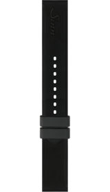 Sinn Silicone strap, black, with pin buckle, 18mm