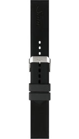 Sinn Silicone strap, black, pin buckle, 20mm