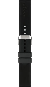 Sinn Silicone strap, black, pin buckle, 22mm