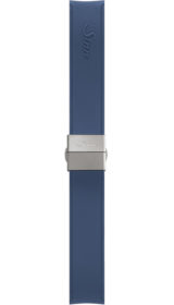 Sinn Silicone strap, blue, steel butterfly clasp, 18mm