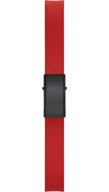 Sinn Silicone strap, red, Tegimented® black steel deployment clasp, 22mm