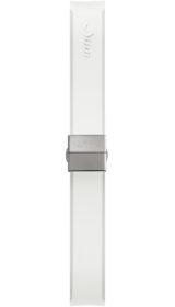Sinn Silicone strap, white, steel butterfly clasp, 18mm