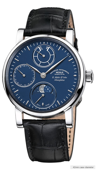 Muehle Moon Phase Platinum watch