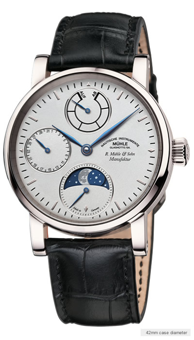 Muehle Moon Phase Steel watch
