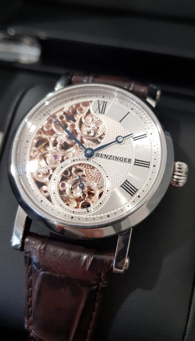 34 Guilloche Skeleton Floral Small