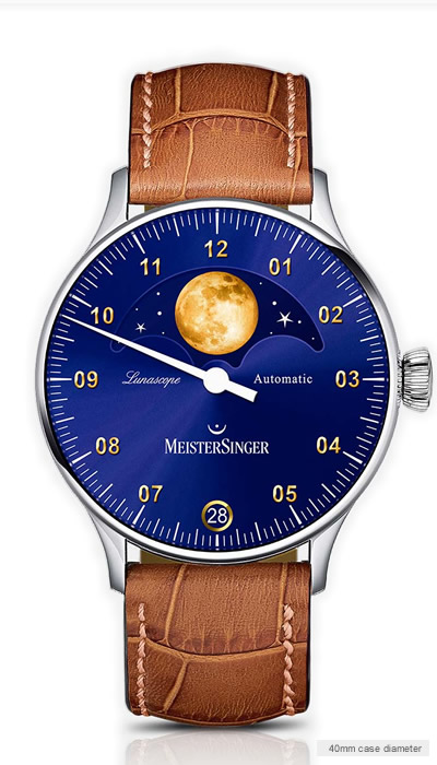 Lunascope Sunburst blue – gold moon (LS908G)