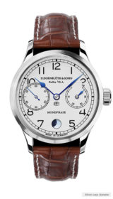 99.6-M Moon Phase silver dial
