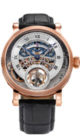 Vanquish Tourbillon Skeleton Remontoire Rose Gold