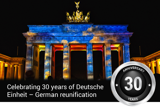 Celebrating 30 years of Deutsche  Einheit – German reunification