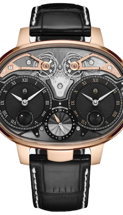 Dual Time Resonance Rose Gold