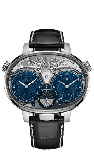 Dual Time Resonance White Gold