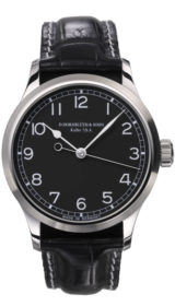 Center Second Black Dial