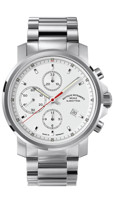 MÜHLE - 29er Chronograph white dial (steel band) M1-25-41-MB
