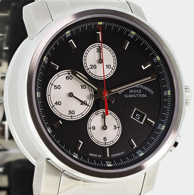 MÜHLE – 29er Chronograph black dial (steel band) M1-25-43-MB