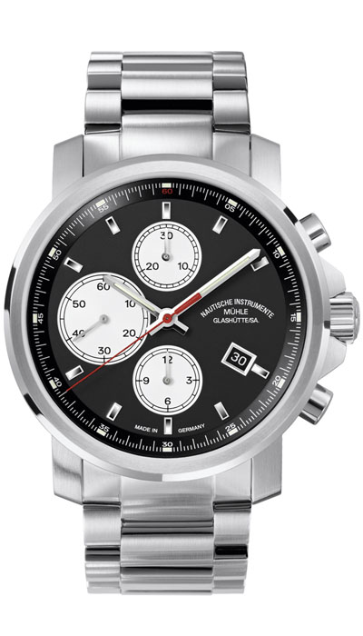 MÜHLE - 29er Chronograph black dial (steel band) M1-25-43-MB