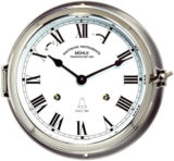 Ship's Bell Clock Quartz Stainless steel 180mm