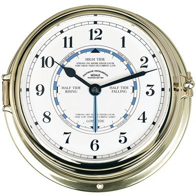 Tidal Clock Quartz Brass 180 mm