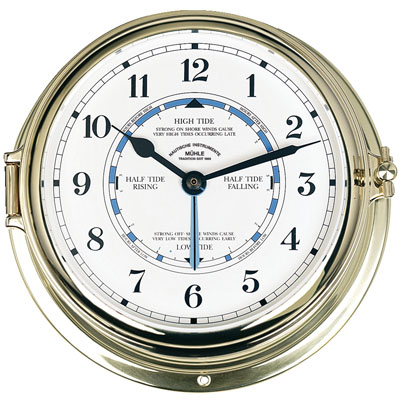 MÜHLE - Tidal Clock Quartz Brass 180 mm