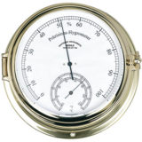 Hygrometer / Thermometer Quartz Brass or Steel 180 mm
