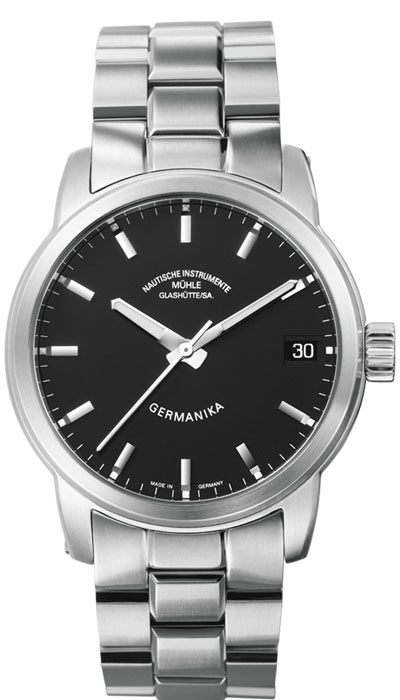 MÜHLE - Germanika IV black dial (steel band) M1-38-33-MB