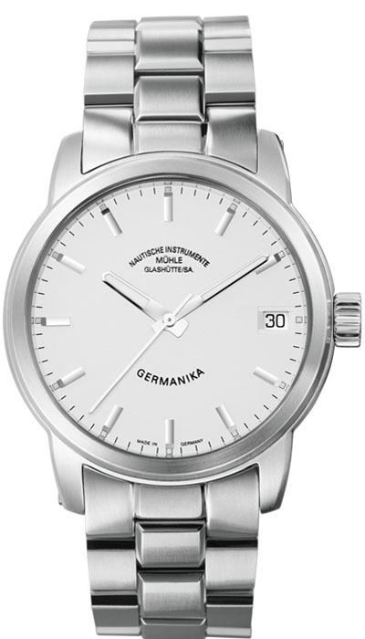 MÜHLE - Germanika IV silver dial (steel band) M1-38-35-MB