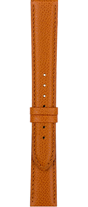 Sellier Calf Leather band for ladies' watches, 14mm, 08 cognac