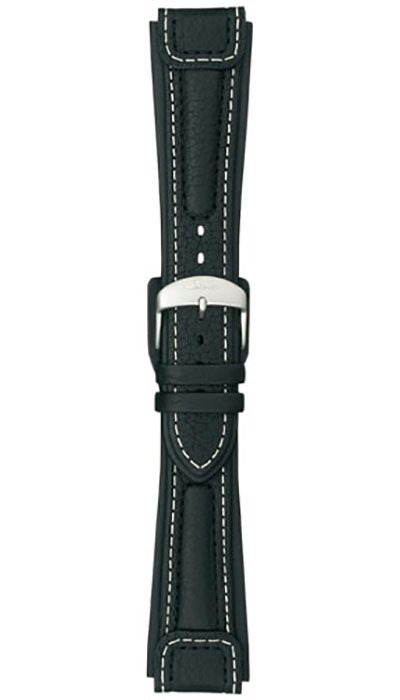 Chronissimo cow hide band, black, case integration, 20,22mm (142, 144, 757, 857)