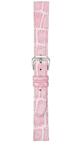 Sinn cow hide strap, pink, alligator embossing, 14mm (ladies)