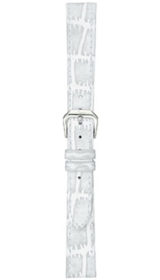 Sinn cow hide strap, white, alligator embossing, 14mm (ladies)