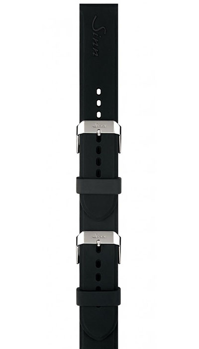 Silicone strap, soft-adjustable with pin buckle, 20,22mm